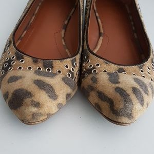 Givenchy Shoes - Givenchy animal print suede flats with grommets